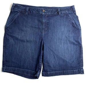 Lane Bryant Size 22 Bermuda Denim Jean Shorts